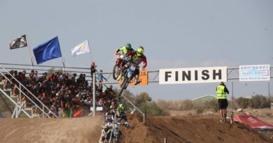 1st Race CY Motocross Championship action b