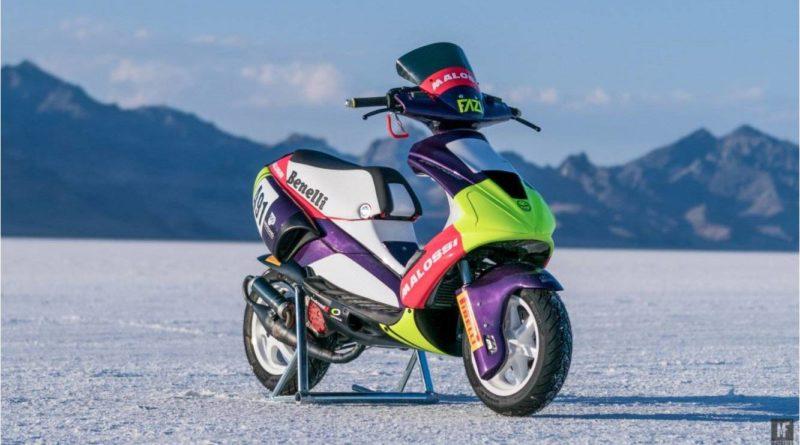 Moto Club Benelli Scooter Speed Record Bonnevill
