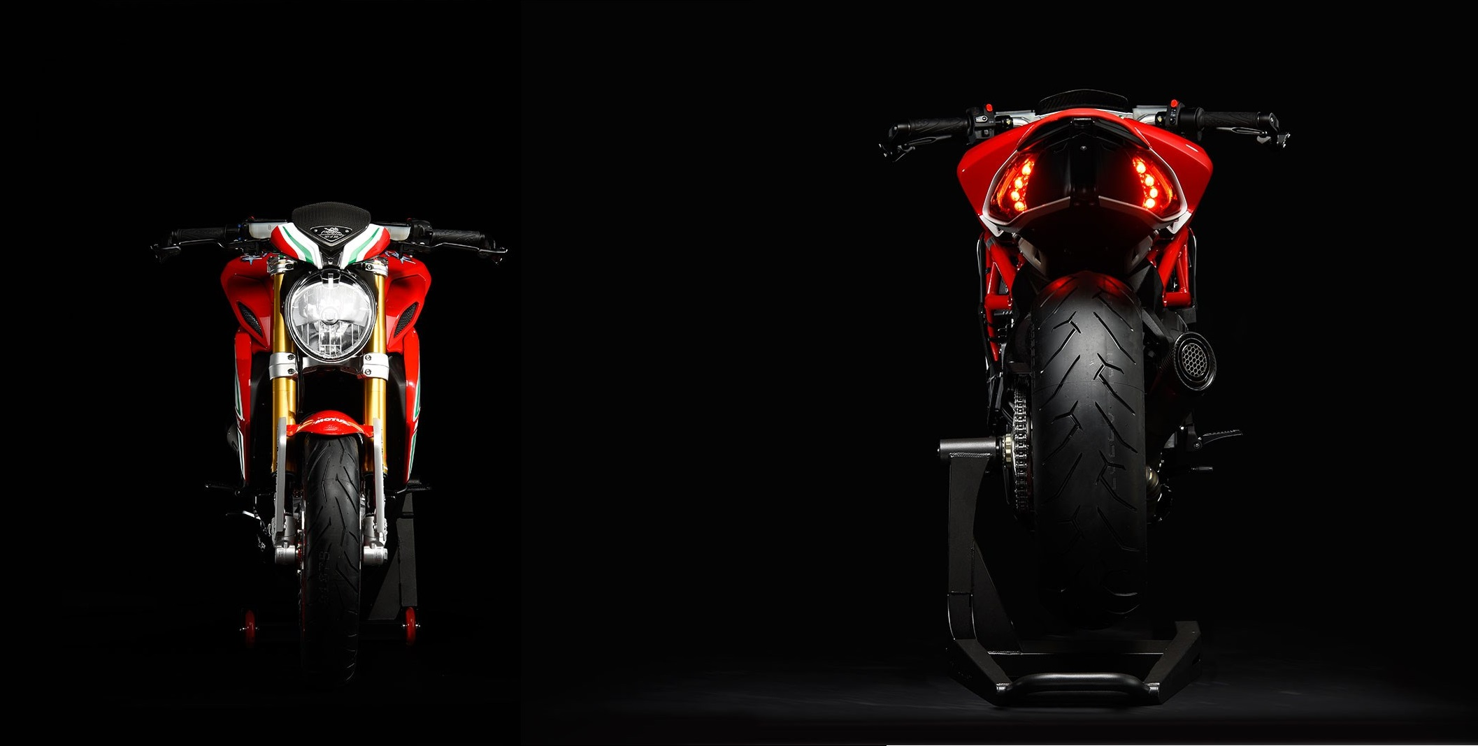 MV Agusta Dragster RC 2018 Front and rear