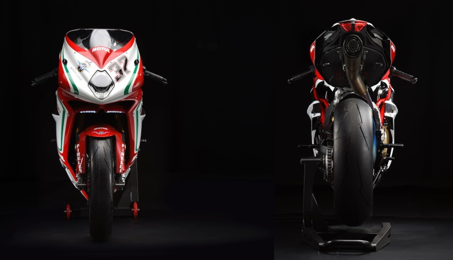 MV Agusta F4 RC 2018 front and rear
